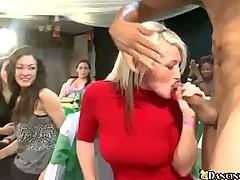 Lesbian Orgy On The Dance Floor