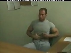 Hunks Office Enterteinment. gay porn gays gay cumshots swallow stud hunk