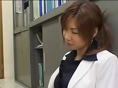 Secretary hand footjob