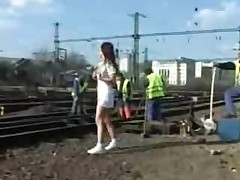 She's Working the Train Tracks by snahbrandy