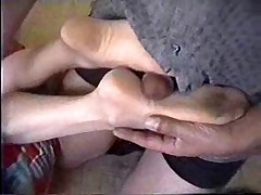 Mature Nylon Footjob