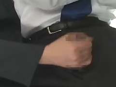 Asian handjob on bus