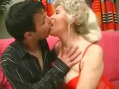 Hot granny teaches younger