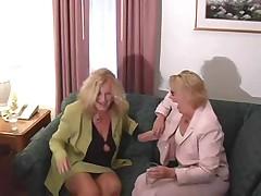 Lesbian Granny Threesome