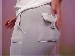 Big butt white girl tease