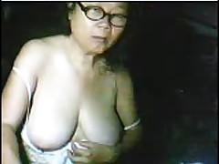Shy Asian granny 61yr