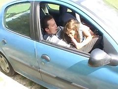 Samia in a car