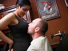 French Brunette is Too Hungry for Cock by TROC